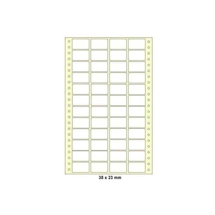 Etikety tabelačné 38x23 - 4R/100 hárkov