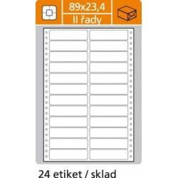 Etikety tabelačné 89x23,4 - 2R/100 hárkov