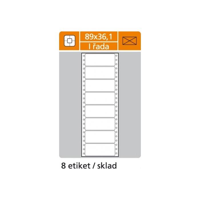 Etikety tabelačné 89x36,1 - 1R/100 hárkov