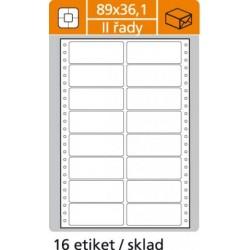 Etikety tabelačné 89x36,1 - 2R/100 hárkov - O