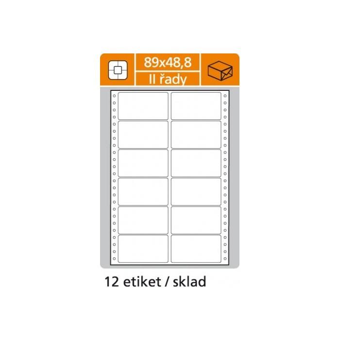 Etikety tabelačné 89x48,8 - 2R/100 hárkov