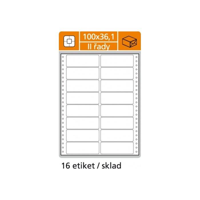 Etikety tabelačné 100x36,1 - 2R/100 hárkov - O