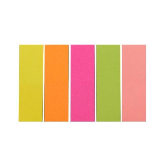Indexy 15x50/5x100 ls. neónové farby D.RECT