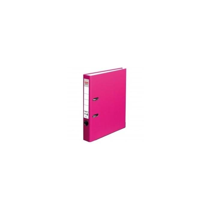 Kancelársky poradač pákový HERLITZ 5 ružový