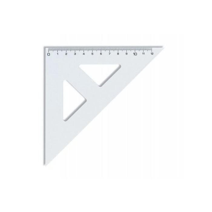 Pravítko trojuholník 45/141 s kolmicou KOH-I-NOOR transparent