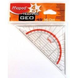 Pravítko trojuholník 45/177 MAPED Technik 16 cm s držadlom