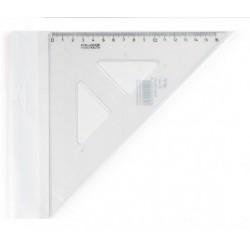 Pravítko trojuholník 45/177 s kolmicou KOH-I-NOOR transparent