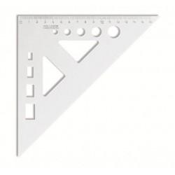Pravítko trojuholník 45/177 KOH-I-NOOR s vyrezom