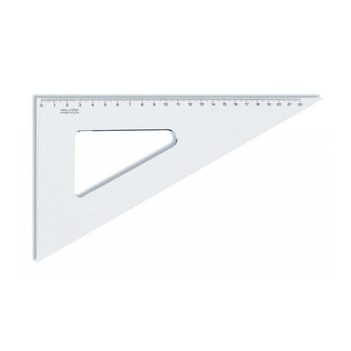 Pravítko trojuholník 60/250 KOH-I-NOOR transparent PES