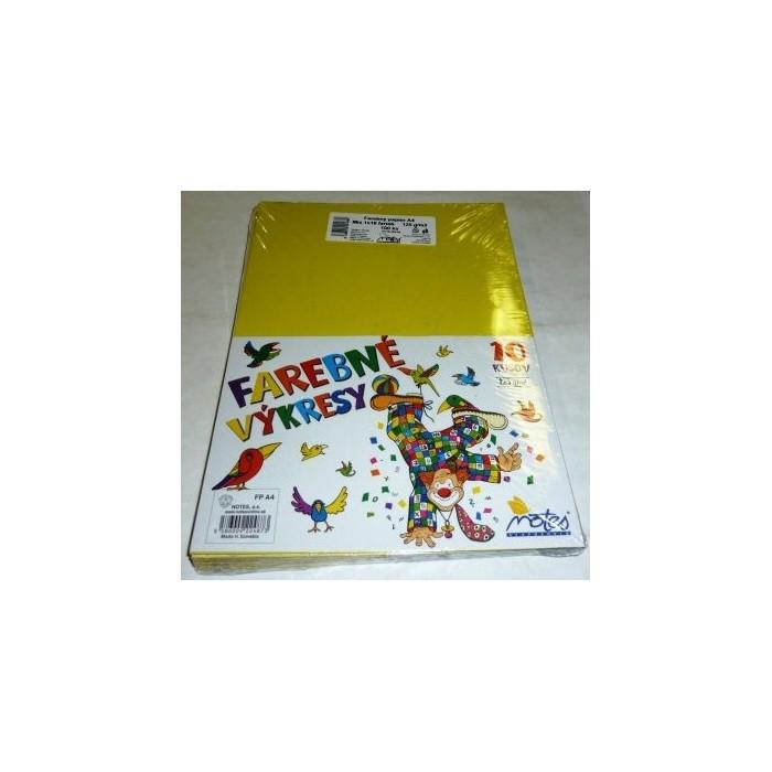 Výkresy farebné A4, 125g/10ks farebný mix