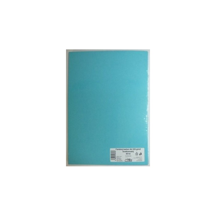 Výkresy farebné A4, 225g/50ks, modré svetlé