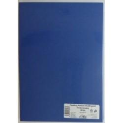 Výkresy farebné A4, 225g/50ks, modré tmavé