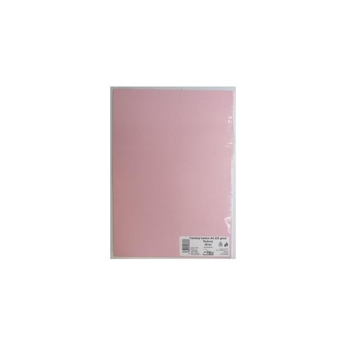 Výkresy farebné A4, 225g/50ks, ružové