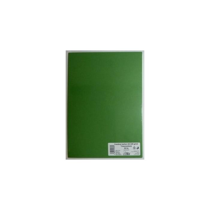 Výkresy farebné A4, 225g/50ks, zelené tmavé
