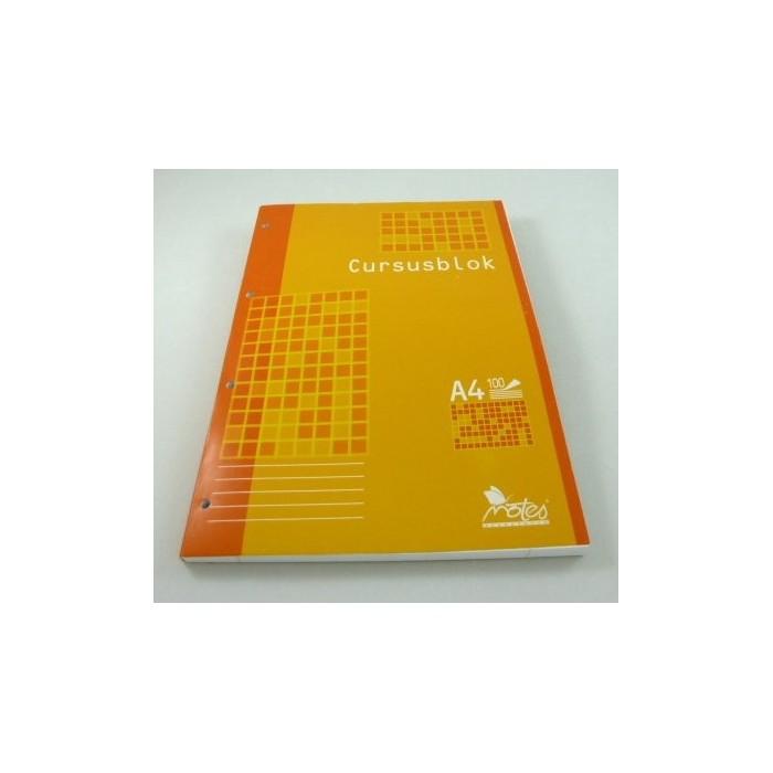 Zošit A4-14104 linkovaný 4 x dierkový lepený, 100 listový