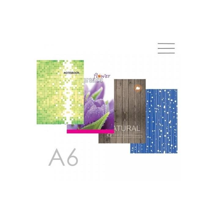 Zošit A6-66104, linkovaný šitý, 100 listový/OFFICE DESIGN