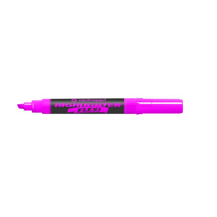 Zvýrazňovač Centropen 8542 ružový FLEXI