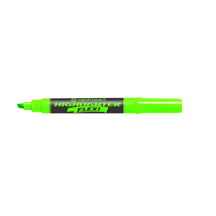 Zvýrazňovač Centropen 8542 zelený FLEXI