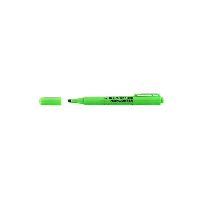 Zvýrazňovač Centropen 8722 zelený ergo