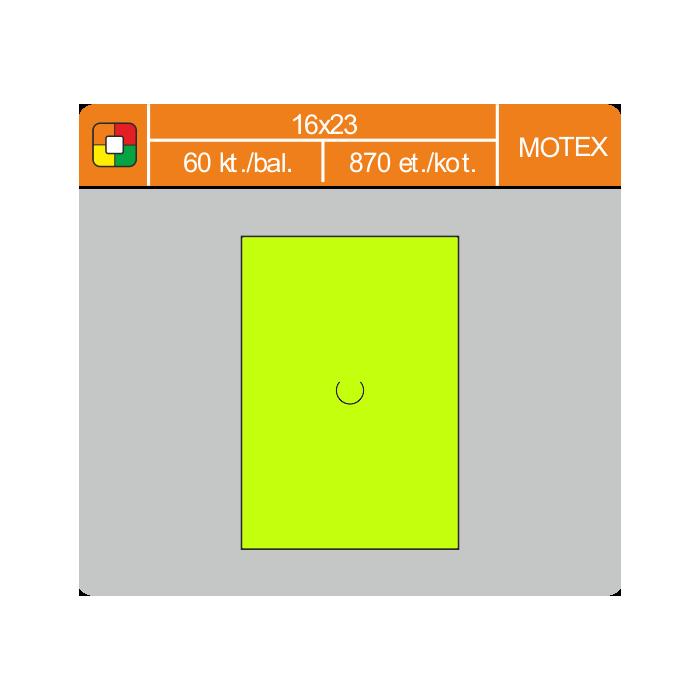 Etikety cenové 16x23 MOTEX žlté