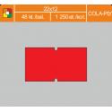 Etikety cenové 22x12 COLA-PLY červené