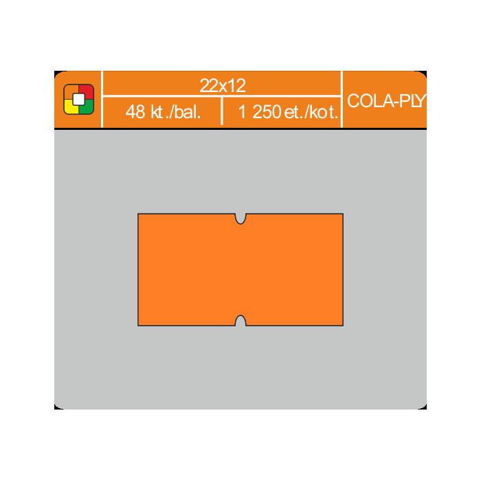 Etikety cenové 22x12 COLA-PLY oranžové