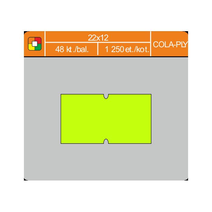 Etikety cenové 22x12 COLA-PLY žlté