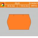 Etikety cenové 25x16 CONTACT oranžové