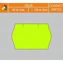 Etikety cenové 25x16 CONTACT žlté
