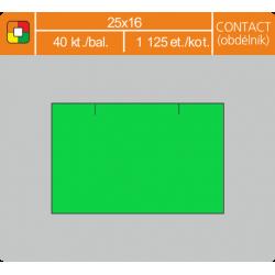 Etikety cenové 25x16 CONTACT obdĺžnik zelené
