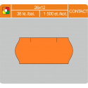Etikety cenové 26x12 CONTACT oranžové