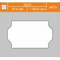 Etikety cenové 32x19 METO biele