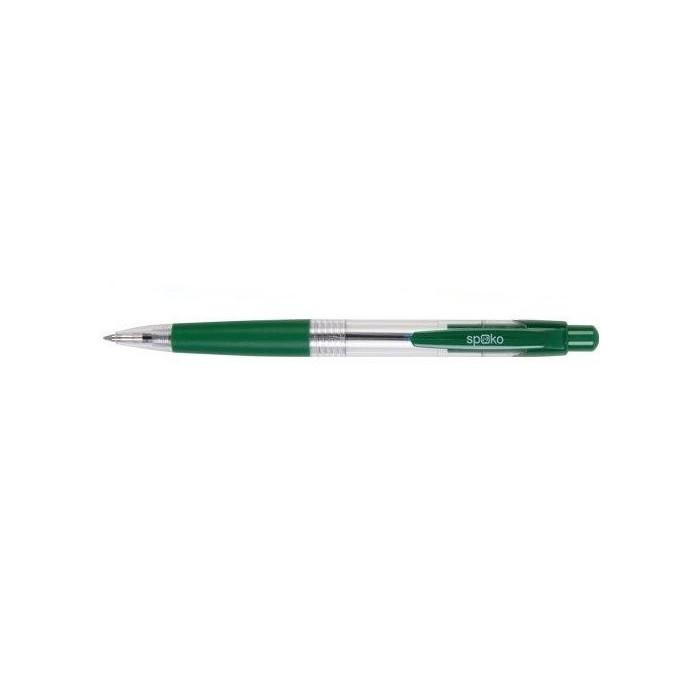 Pero guľôčkové SPOKO 0112 zelené/zelená tuha