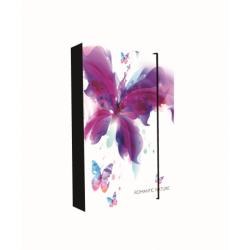 Dosky A4 školské + BOX KARTON Jumbo Romantic Nature Motýl